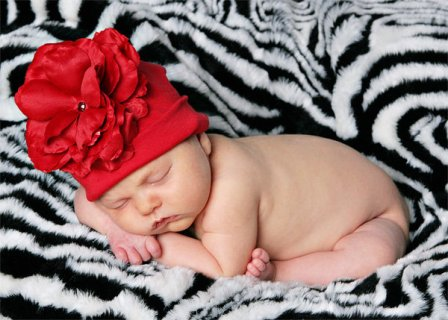 Red Rose Flower Hat-