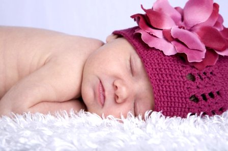 Crochet Flower Hat-