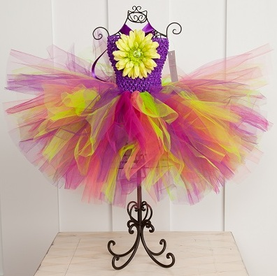 Razzle Dazzle Brights Baby Girl Crochet Tutu Dress