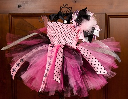 Fleur-De-Lis Couture Hot Pink & Pink Zebra Baby Crochet Tutu Dress