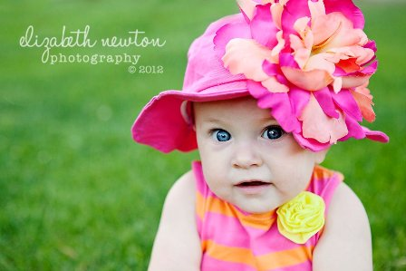 Orange Raspberry Peony Flower Sun Hat