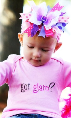 Glossy Girl - Over-the-Top Hair Bow Headband