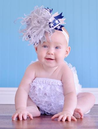 Dallas Cowboys Over the Top Hair Bow Headband