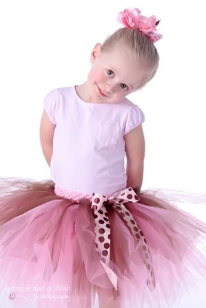 Bella Ballerina Pink & Brown Tutu-girls, boutique, tutu, pink, brown, polka dot, skirt, ballerina, tutu