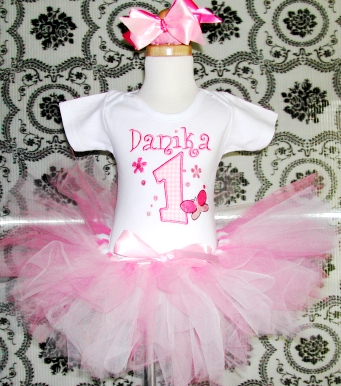 Fancy Pink Birthday Tutu Set
