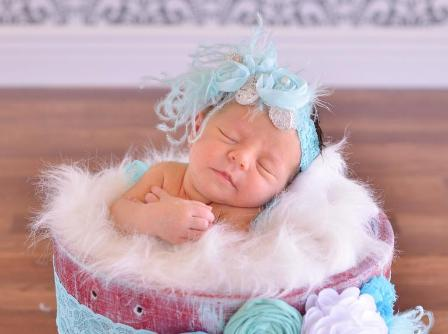 Aqua & Silver Ostrich Feather Flower Lace Headband-blue, Silver, Chiffon, Flower, Pearl ,Curly, Ostrich, Feathers, Lace, Headband, infant, baby girl
