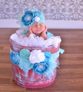 Turquoise & Aqua Flower Sash-maternity, pregnancy, sash, aqua, blue, turquoise, baby, belly