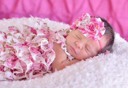 Pink Ruffle Rose Infant Petti Romper