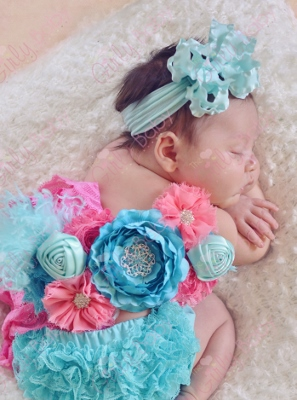 Summer Bouquet Newborn Maternity Flower Sash