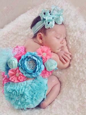 Summer Bouquet Newborn Maternity Flower Sash-flower sash, summer, hot, pink, turquoise, blue, hot pink, maternity, flower, infant, baby, newborn
