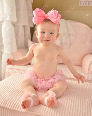 Pink Large Satin Hair Bow on Nylon Headband