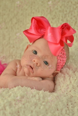 Hot Pink Large Satin Hair Bow on Nylon Headband