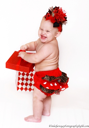 Red Leopard Glam Ruffle Bloomers