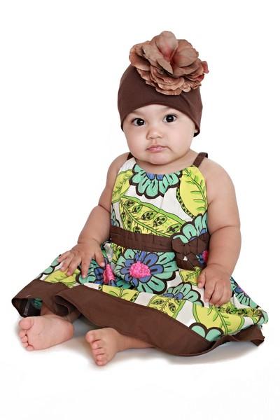 Brown Rose Flower Hat-brown, infant, baby girl, boutique flower hat