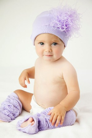 Lavender Curly Marabou Feather Hat-purple, lavender, feathers, ostrich, infant, baby girl, pastel