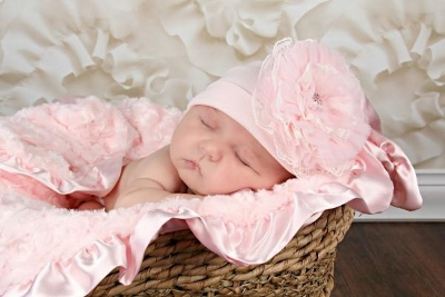 Pale Pink Lace Rose Cotton Flower Hat
