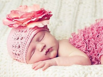 Candy Pink Crochet Rose Flower Hat