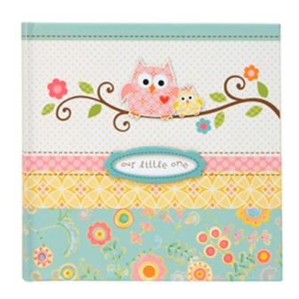 Happi Baby Girl Owl Bound Photo Journal Album