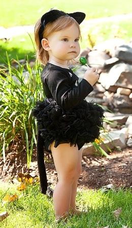 black cat halloween bling tutu onesie - Baby Cat Halloween Costume