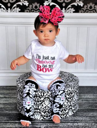 I'm Just as Glamorous as My Bow Boutique Baby Onesie