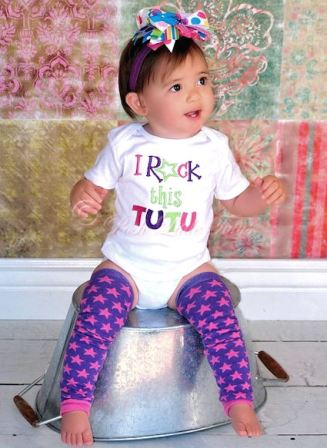 I Rock This Tutu Boutique Baby Onesie