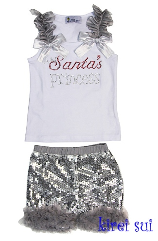 Santa's Princess Short Set-santa,princess,short set,shorts,set,holiday,christmas,