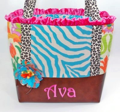 Boho Gypsy Luxe Baby Boutique Diaper Bag-diaper bag, infant, baby, girl, tote, bag, animal print, cheetah, leopard, zebra, floral, bright, ruffle, colorful