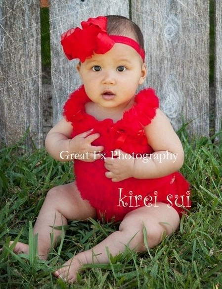 Red Ruffle Top & Bloomer Set