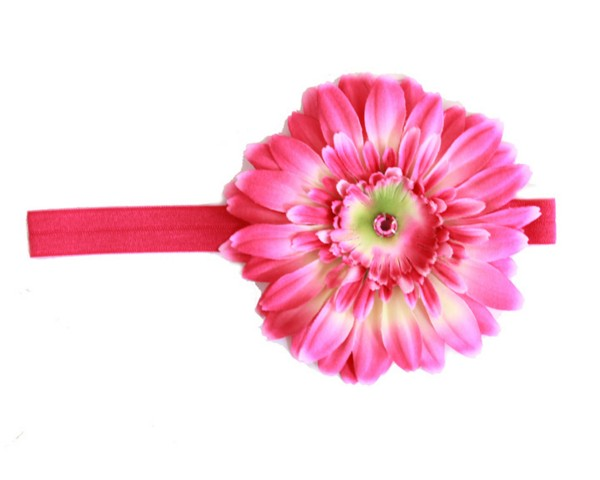 Raspberry Daisy Flowerette Burst Headband