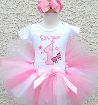Fancy Pink Birthday Tutu Set-outfit, tutu, set, birthday, pink, butterfly, first, party, 1st