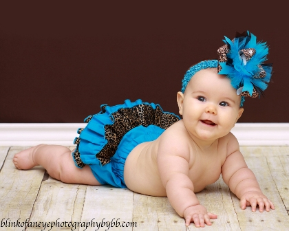 Turquoise Safari Ruffle Bloomers