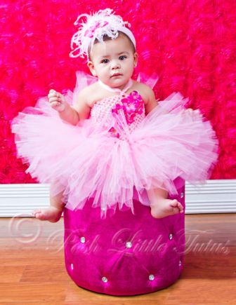 Haute Baby Pink Flair & Frills Baby Tutu Dress