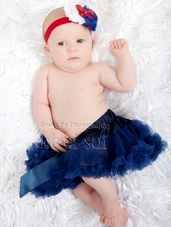 Newborn Baby Navy Blue Pettiskirt-blue, navy, infant, baby girl, newborn, july 4th, 4th, of