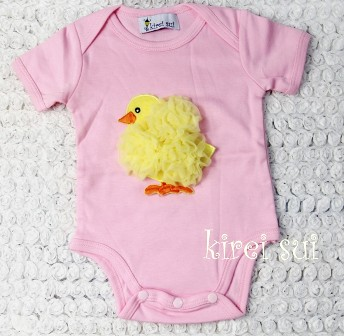 Easter Chick Light Pink Onesie