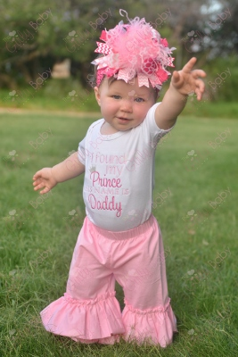 Daddy is My Prince Embroidered Onesie-light, pink, hot, prince, daddy, daddy's, girl, onesie, shirt, romper, outfit, pants, set, newborn, infant, baby, crown, tiara, princess