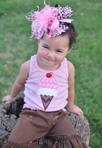Neapolitan Ice Cream Treat Tank Top-light, pink, white, and, brown, ice cream, icecream, birthday, party, outfit, tank, top, shirt, outfit, cone, set, infant, baby, girl, summer
