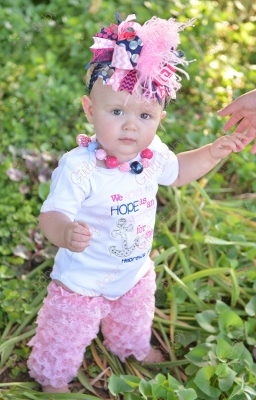 Hope as an Anchor for the Soul Onesie-onesie, verse, scripture, bible, anchor, summer, hope, soul, light, hot, pink, and, navy, blue, onesie, romper, shirt, outfit, set, sparkle, sequin