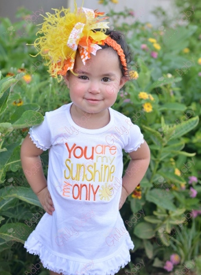 You Are My Sunshine Ruffle Dress-yellow, sunshine, ruffle, white, orange, summer, sun, beach, vacation, dress, outfit, infant, baby, girl, boutique