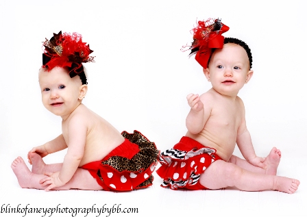 Holiday Glam Twin Bloomer Sets