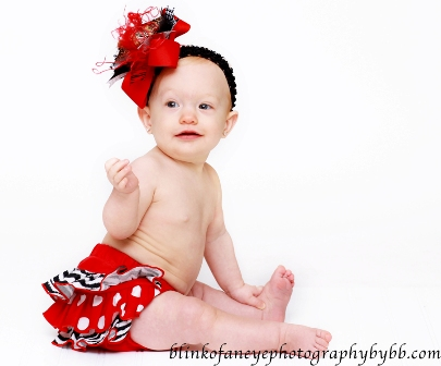 Red Zebra Ruffle Bloomers
