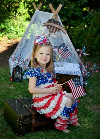 Stars & Stripes Ruffle Petti Dress & Ruffle Leg Warmers-july, 4th, 4th of july, dress, patriotic, red, white, blue