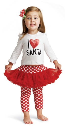 I Love Santa Petti Set Holiday Outfit