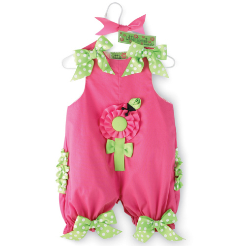 Little Sprout Ruffled Flower Bubble Romper