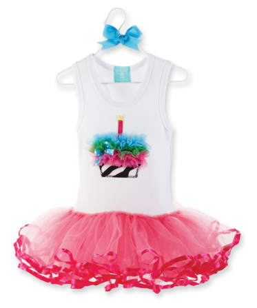 Zebra Ruffle Cupcake Tutu Dress