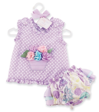 Lavender Flower Pot Top & Ruffle Bloomer Set