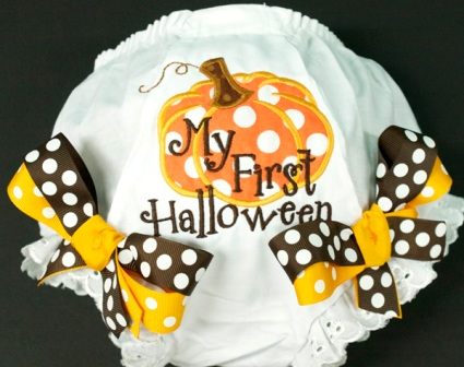 My First Halloween Bow Bloomers