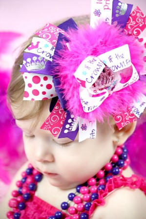 Total Princess Over the Top Hair Bow Headband