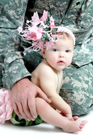 Military Princess Bottlecap Over the Top Hair Bow Headband
