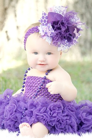 Purple Passion Over the Top Hair Bow Headband-purple, hairbow, baby, girl,