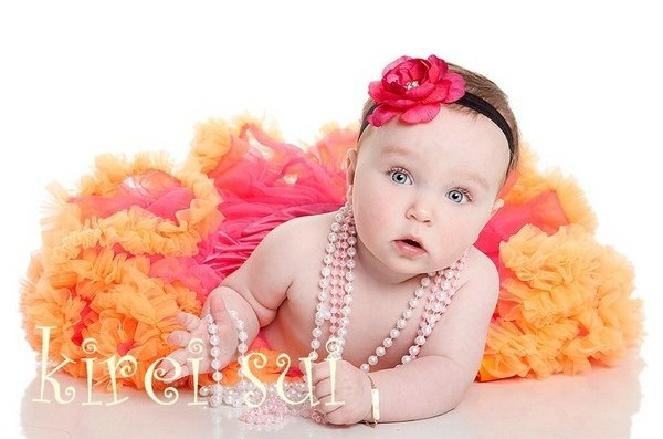 Hot Pink with Orange Ruffles Pettiskirt-hot pink, orange, newborn, petti skirt